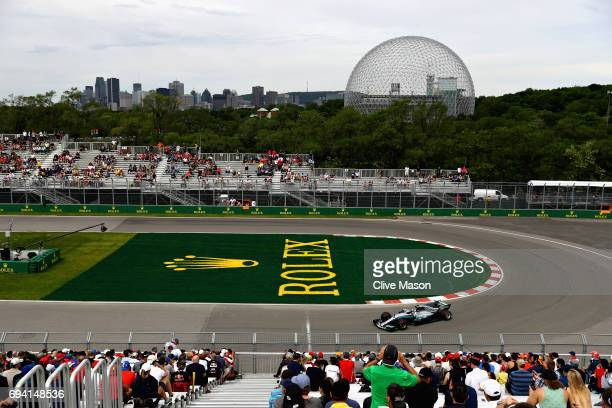 Valtteri Bottas driving the Mercedes AMG Petronas F1 Team Mercedes F1 WO8 on track during practice for the Canadian Formula One Grand Prix at Circuit...
