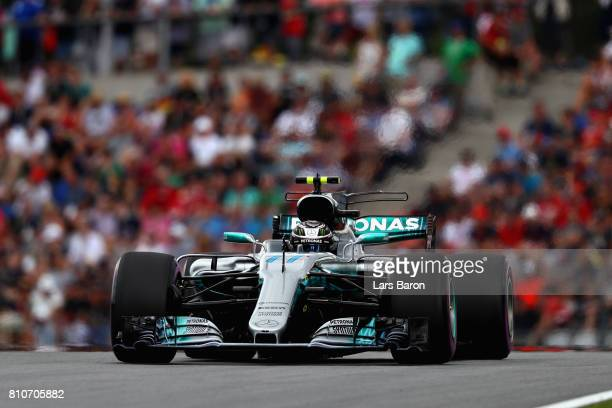 Valtteri Bottas driving the Mercedes AMG Petronas F1 Team Mercedes F1 WO8 on track during qualifying for the Formula One Grand Prix of Austria at Red...