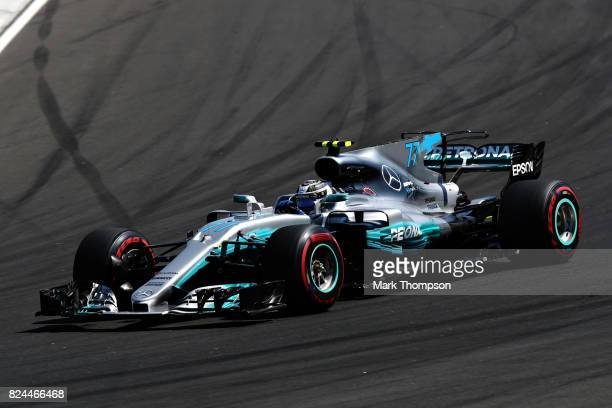 Valtteri Bottas driving the Mercedes AMG Petronas F1 Team Mercedes F1 WO8 on track during the Formula One Grand Prix of Hungary at Hungaroring on...