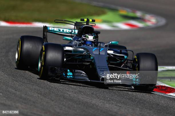 Valtteri Bottas driving the Mercedes AMG Petronas F1 Team Mercedes F1 WO8 on track during the Formula One Grand Prix of Italy at Autodromo di Monza...