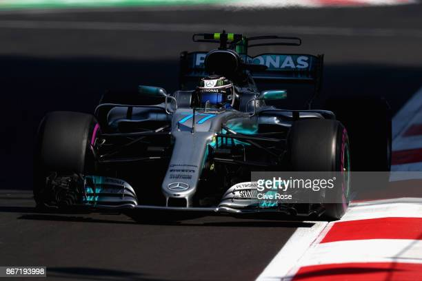 Valtteri Bottas driving the Mercedes AMG Petronas F1 Team Mercedes F1 WO8 on track during practice for the Formula One Grand Prix of Mexico at...