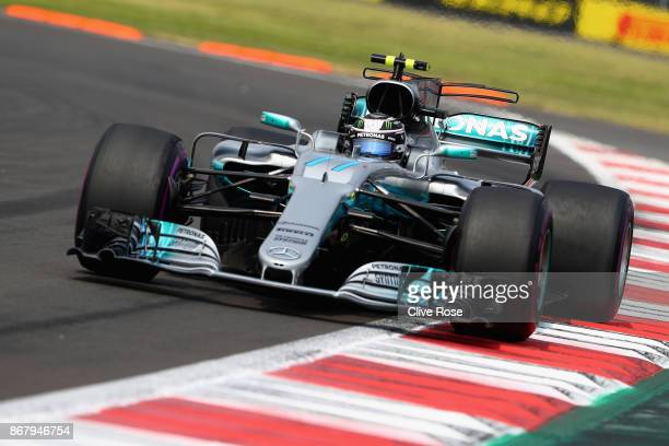 Valtteri Bottas driving the Mercedes AMG Petronas F1 Team Mercedes F1 WO8 on track during the Formula One Grand Prix of Mexico at Autodromo Hermanos...