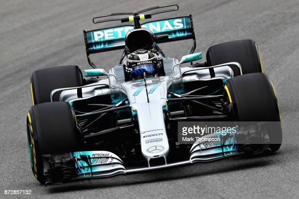 Valtteri Bottas driving the Mercedes AMG Petronas F1 Team Mercedes F1 WO8 on track during final practice for the Formula One Grand Prix of Brazil at...