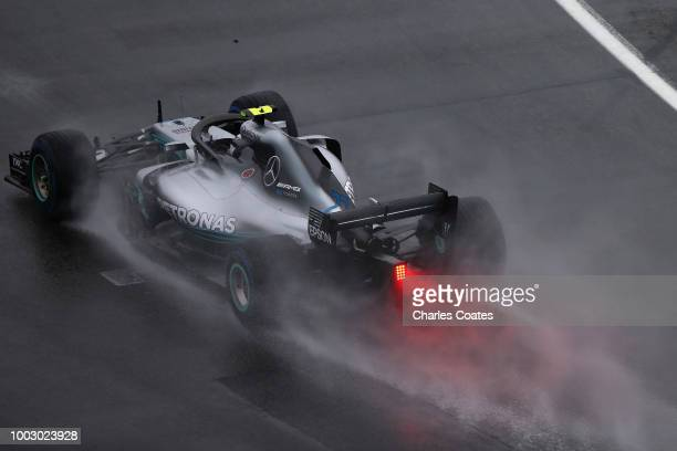 Valtteri Bottas driving the Mercedes AMG Petronas F1 Team Mercedes WO9 on track during final practice for the Formula One Grand Prix of Germany at...