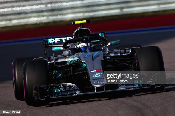 Valtteri Bottas driving the Mercedes AMG Petronas F1 Team Mercedes WO9 on track during qualifying for the Formula One Grand Prix of Russia at Sochi...