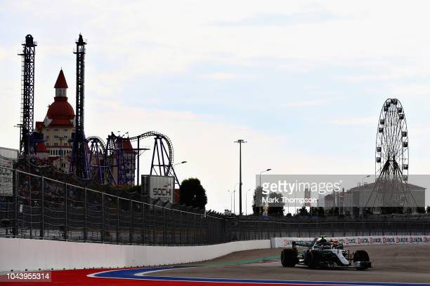 Valtteri Bottas driving the Mercedes AMG Petronas F1 Team Mercedes WO9 on track during the Formula One Grand Prix of Russia at Sochi Autodrom on...