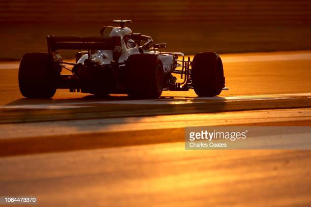 Valtteri Bottas driving the Mercedes AMG Petronas F1 Team Mercedes WO9 on track during practice for the Abu Dhabi Formula One Grand Prix at Yas...