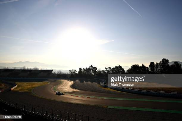 Valtteri Bottas driving the Mercedes AMG Petronas F1 Team Mercedes W10 on track during day one of F1 Winter Testing at Circuit de Catalunya on...