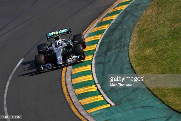 Valtteri Bottas driving the Mercedes AMG Petronas F1 Team Mercedes W10 on track during the F1 Grand Prix of Australia at Melbourne Grand Prix Circuit...