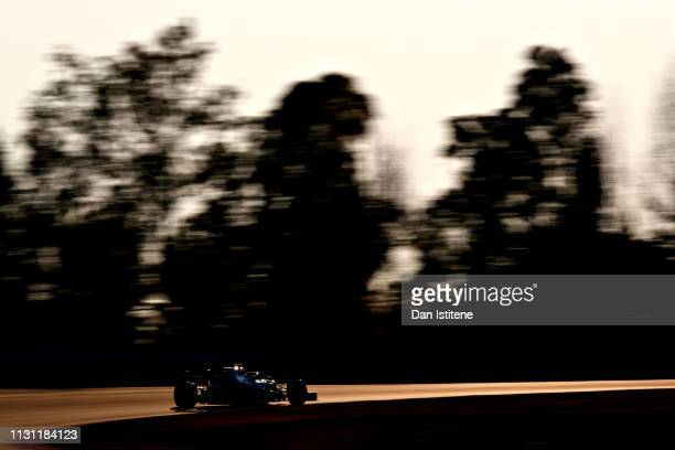 Valtteri Bottas driving the Mercedes AMG Petronas F1 Team Mercedes W10 on track during day four of F1 Winter Testing at Circuit de Catalunya on...