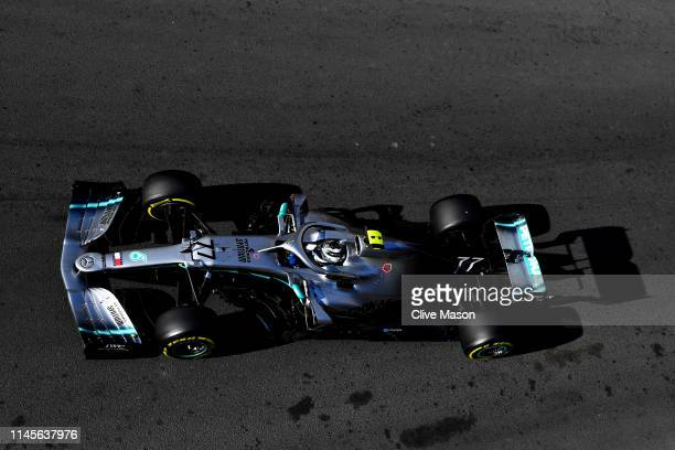 Valtteri Bottas driving the Mercedes AMG Petronas F1 Team Mercedes W10 on track during the F1 Grand Prix of Azerbaijan at Baku City Circuit on April...
