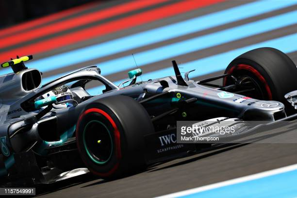 Valtteri Bottas driving the Mercedes AMG Petronas F1 Team Mercedes W10 on track during final practice for the F1 Grand Prix of France at Circuit Paul...