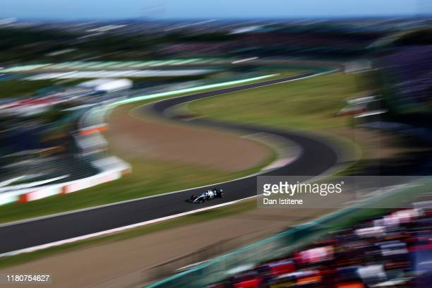 Valtteri Bottas driving the Mercedes AMG Petronas F1 Team Mercedes W10 during the F1 Grand Prix of Japan at Suzuka Circuit on October 13, 2019 in...