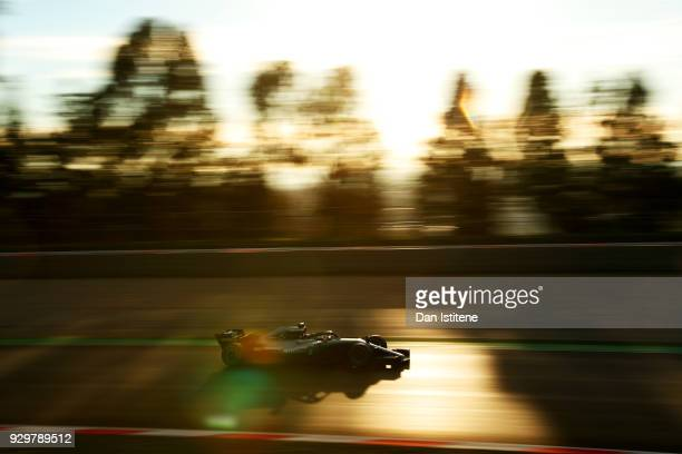 Valtteri Bottas driving the Mercedes AMG Petronas F1 Team Mercedes WO9 on track during day four of F1 Winter Testing at Circuit de Catalunya on March...