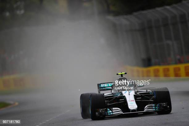 Valtteri Bottas driving the Mercedes AMG Petronas F1 Team Mercedes WO9 on track during final practice for the Australian Formula One Grand Prix at...
