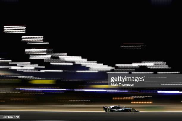 Valtteri Bottas driving the Mercedes AMG Petronas F1 Team Mercedes WO9 on track during practice for the Bahrain Formula One Grand Prix at Bahrain...