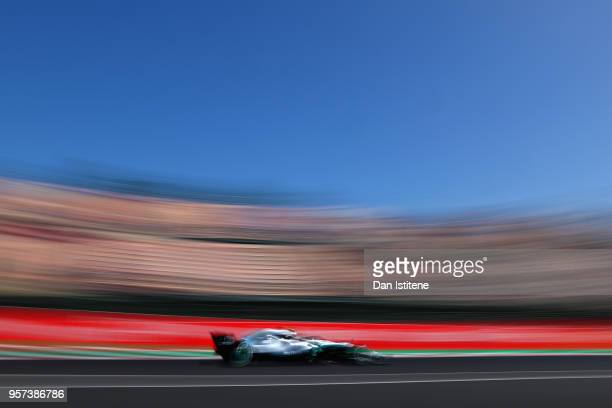 Valtteri Bottas driving the Mercedes AMG Petronas F1 Team Mercedes WO9 on track during practice for the Spanish Formula One Grand Prix at Circuit de...