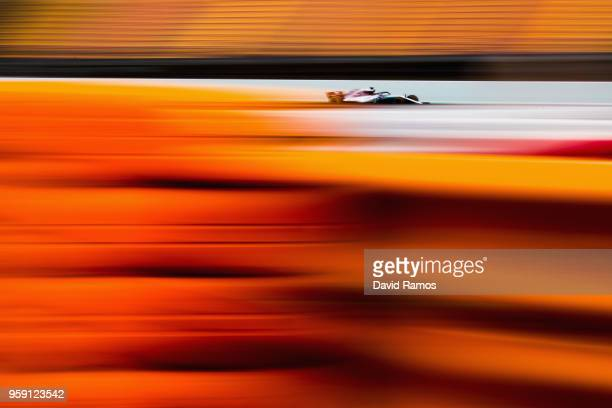 Valtteri Bottas driving the Mercedes AMG Petronas F1 Team Mercedes WO9 on track during day two of F1 testing at Circuit de Catalunya on May 16 2018...