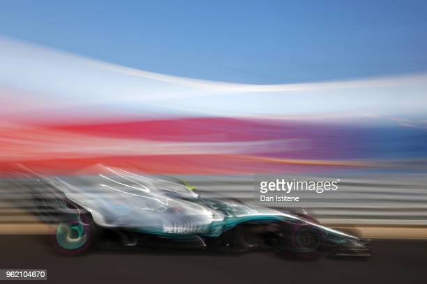 Valtteri Bottas driving the Mercedes AMG Petronas F1 Team Mercedes WO9 on track during practice for the Monaco Formula One Grand Prix at Circuit de...