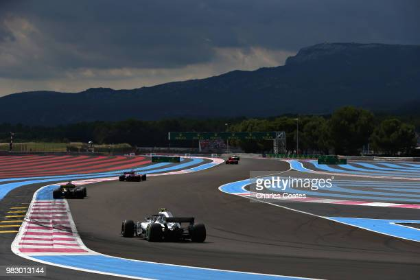 Valtteri Bottas driving the Mercedes AMG Petronas F1 Team Mercedes WO9 on track during the Formula One Grand Prix of France at Circuit Paul Ricard on...