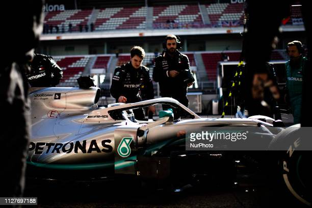 Valtteri Bottas fo Finland with 77 of Mercedes AMG Petronas Motorsport W10 in action during the Formula 1 2019 PreSeason Tests at Circuit de...