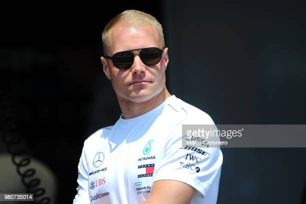 Valtteri Bottas of Finland and Mercedes AMG Petronas F1 Team in the paddock during the Formula One Grand Prix de France