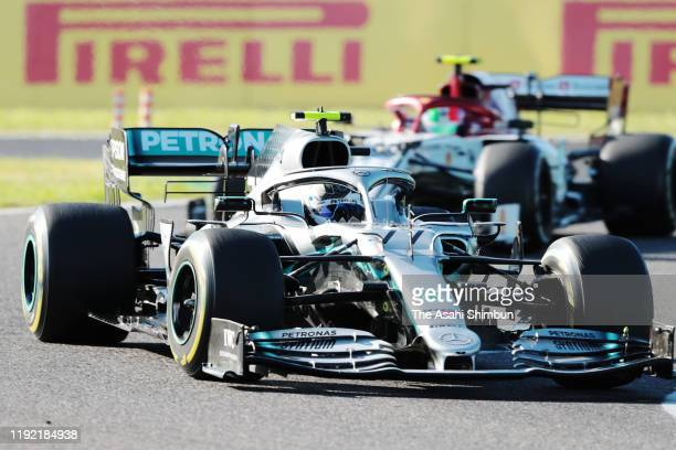 Valtteri Bottas of Finland and Mercedes GP competes in the F1 Grand Prix of Japan at Suzuka Circuit on October 13, 2019 in Suzuka, Mie, Japan.