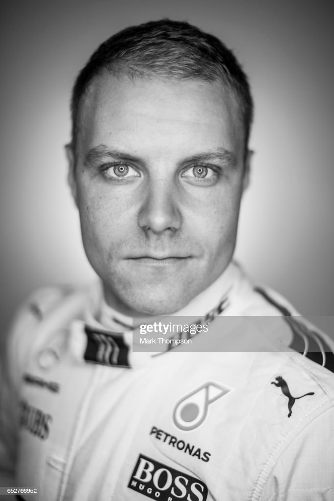 Valtteri Bottas of Finland and Mercedes GP poses for a portrait during day three of Formula One winter testing at Circuit de Catalunya on March 9, 2017 in Montmelo, Spain.