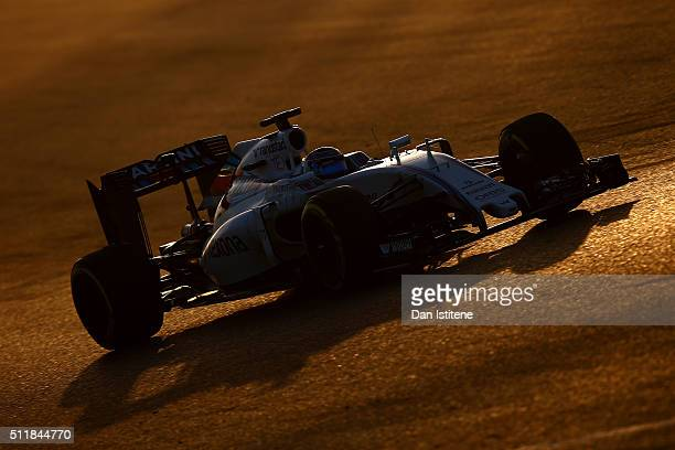 Valtteri Bottas of Finland and Williams drives during day two of F1 winter testing at Circuit de Catalunya on February 23 2016 in Montmelo Spain