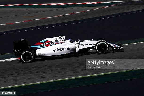 Valtteri Bottas of Finland and Williams drives during day two of F1 winter testing at Circuit de Catalunya on March 2 2016 in Montmelo Spain