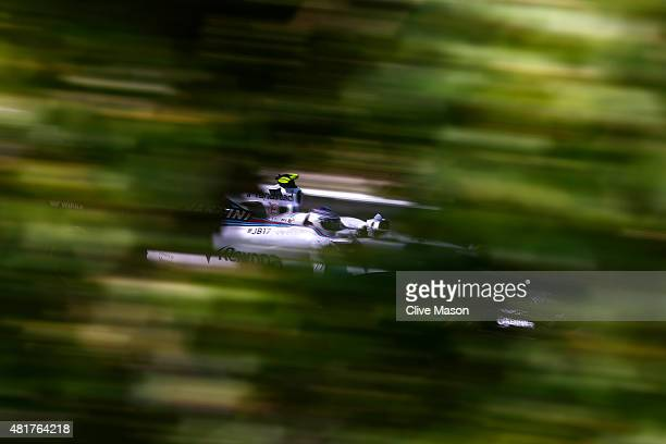 Valtteri Bottas of Finland and Williams drives during practice for the Formula One Grand Prix of Hungary at Hungaroring on July 24 2015 in Budapest...