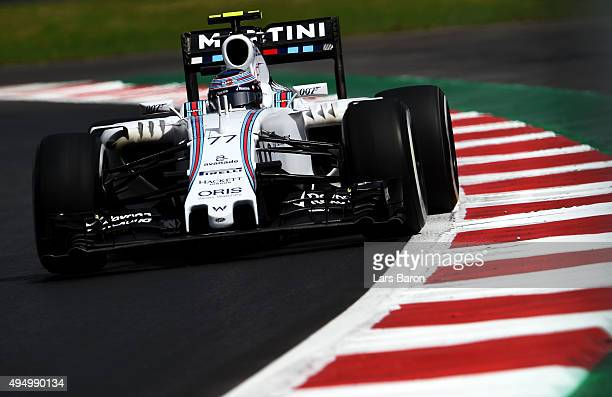 Valtteri Bottas of Finland and Williams drives during practice for the Formula One Grand Prix of Mexico at Autodromo Hermanos Rodriguez on October 30...
