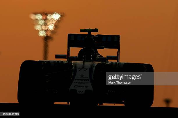 Valtteri Bottas of Finland and Williams drives during qualifying for the Abu Dhabi Formula One Grand Prix at Yas Marina Circuit on November 28 2015...