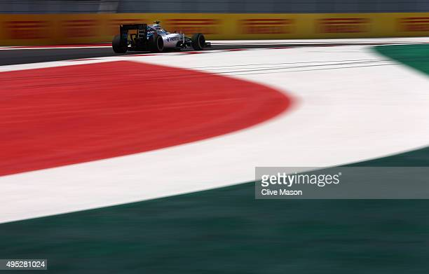Valtteri Bottas of Finland and Williams drives during the Formula One Grand Prix of Mexico at Autodromo Hermanos Rodriguez on November 1 2015 in...