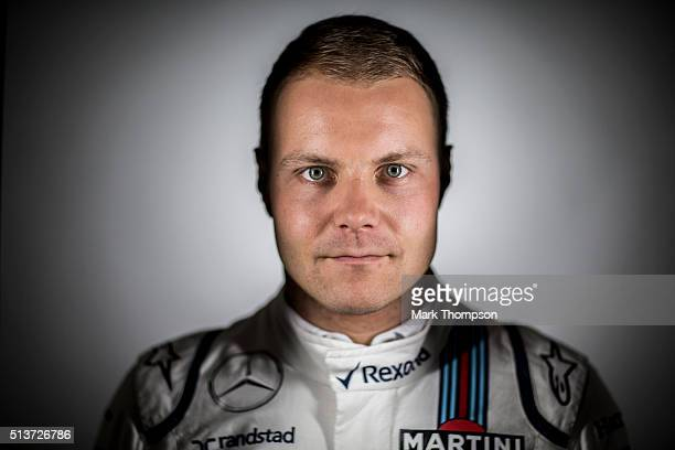 Valtteri Bottas of Finland and Williams poses for a portrait during day three of F1 winter testing at Circuit de Catalunya on March 3 2016 in...