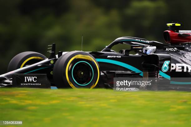 Valtteri Bottas of Finland driving the Mercedes AMG Petronas F1 Team Mercedes W11 on track during practice for the F1 Grand Prix of Austria at Red...