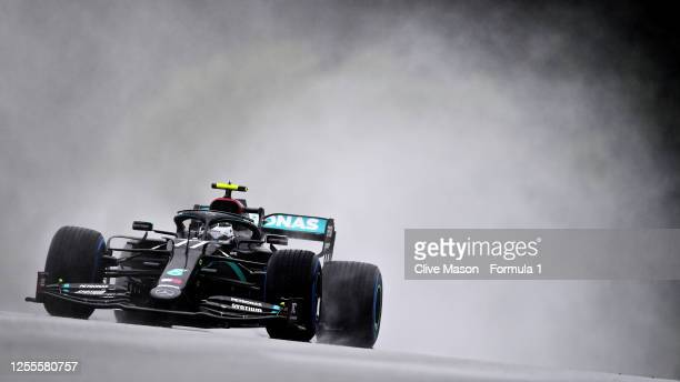 Valtteri Bottas of Finland driving the Mercedes AMG Petronas F1 Team Mercedes W11 on track during qualifying for the Formula One Grand Prix of Styria...