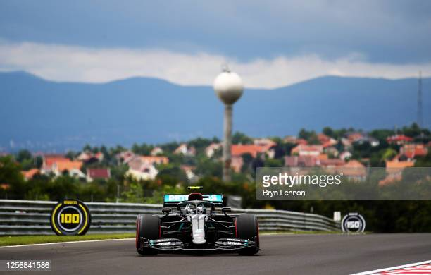 Valtteri Bottas of Finland driving the Mercedes AMG Petronas F1 Team Mercedes W11 on track during final practice for the F1 Grand Prix of Hungary at...