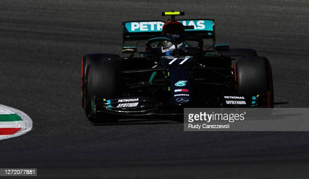 Valtteri Bottas of Finland driving the Mercedes AMG Petronas F1 Team Mercedes W11 on track during final practice ahead of the F1 Grand Prix of...