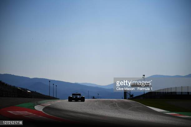 Valtteri Bottas of Finland driving the Mercedes AMG Petronas F1 Team Mercedes W11 on track during qualifying for the F1 Grand Prix of Tuscany at...