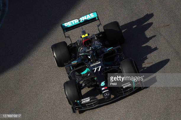 Valtteri Bottas of Finland driving the Mercedes AMG Petronas F1 Team Mercedes W11 on track during the F1 Grand Prix of Russia at Sochi Autodrom on...