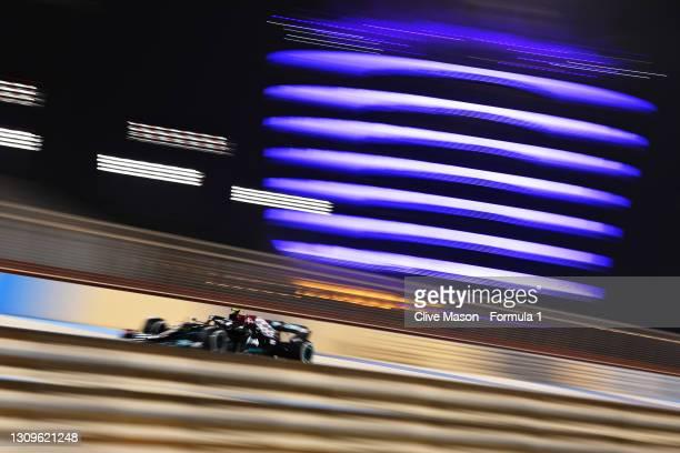 Valtteri Bottas of Finland driving the Mercedes AMG Petronas F1 Team Mercedes W12 during the F1 Grand Prix of Bahrain at Bahrain International...