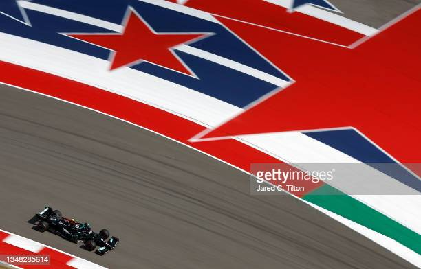 Valtteri Bottas of Finland driving the Mercedes AMG Petronas F1 Team Mercedes W12 during final practice ahead of the F1 Grand Prix of USA at Circuit...