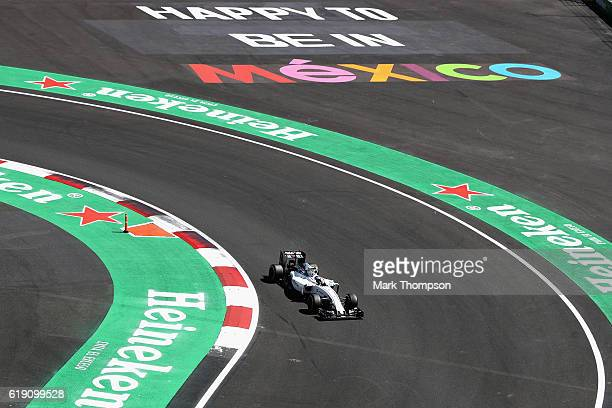 Valtteri Bottas of Finland driving the Williams Martini Racing Williams FW38 Mercedes PU106C Hybrid turbo on track during qualifying for the Formula...