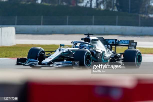 Valtteri Bottas of Mercedes AMG Petronas Formula One Team during the winter test days at the Circuit de Catalunya in Montmelo Spain on February 18...