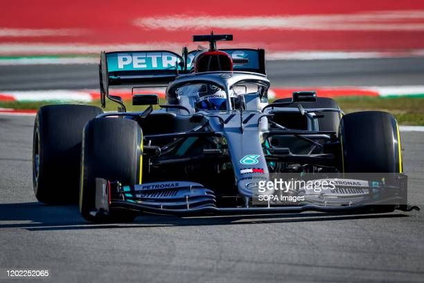 CIRCUIT MONTMELO CATALONIA SPAIN Valtteri Bottas of Mercedes AMG Petronas Formula One Team seen in action during third day of F1 Test Days in...