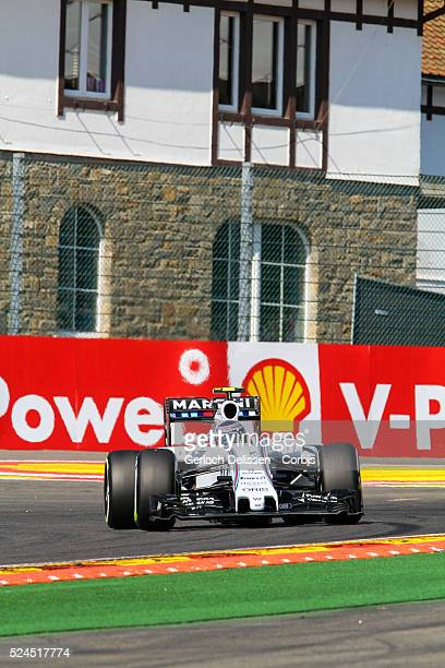 Valtteri Bottas of the Williams Martini Racing Team during the 2015 Formula 1 Shell Belgian Grand Prix free practise 1 at Circuit de SpaFrancorchamps...