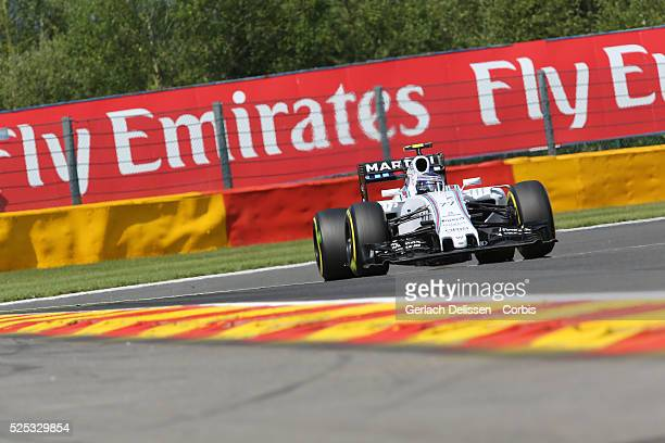 Valtteri Bottas of the Williams Martini Racing Team during the 2015 Formula 1 Shell Belgian Grand Prix free practice 2 at Circuit de...