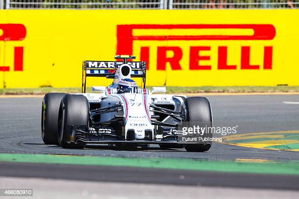 Valtteri Bottas of Williams Martini Racing seen during practice on Day 2 of the 2015 Australian Formula 1 Grand Prix on March 13 2015 in Melbourne...