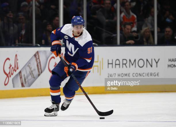 Valtteri Filppula of the New York Islanders in action against the Philadelphia Flyers during their game at NYCB Live's Nassau Coliseum on March 03...